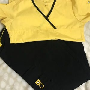 Other - Black and yellow scrubs